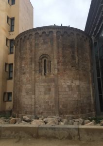 Gothic church in neighborhood of Barcelona, Spain